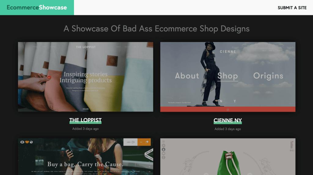 Ecommerce Design Inspiration EcommerceShowcase.com