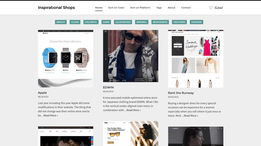Inspirational Shops The Best eCommerce Web Designs