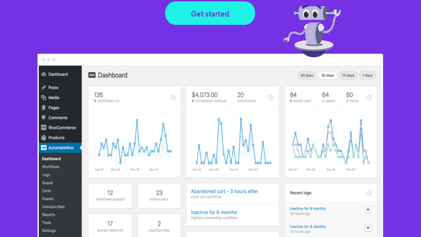 AutomateWoo Screenshot